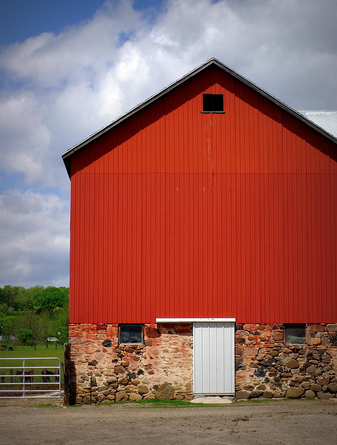 Red Barn Photograph - Big Red by Linda Mishler