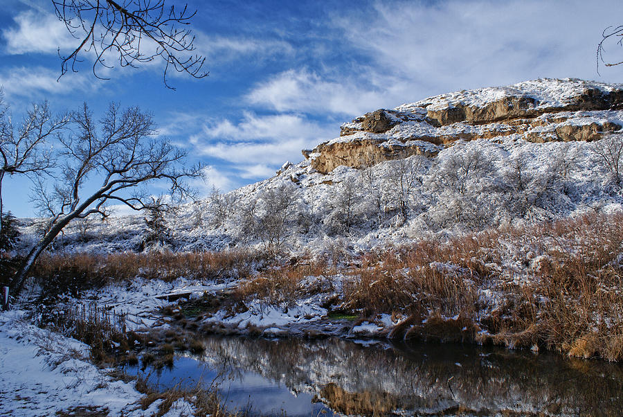 Winter Photograph - Big Springs by Alan Hutchins