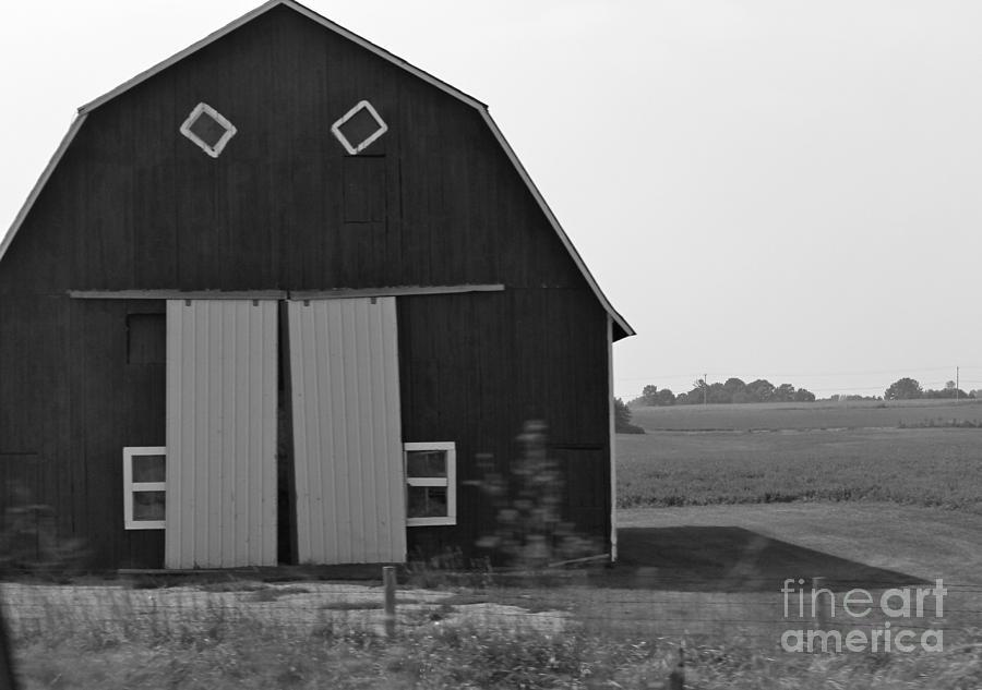 Barn Photograph - Big Tooth Barn Black And White by Pamela Walrath