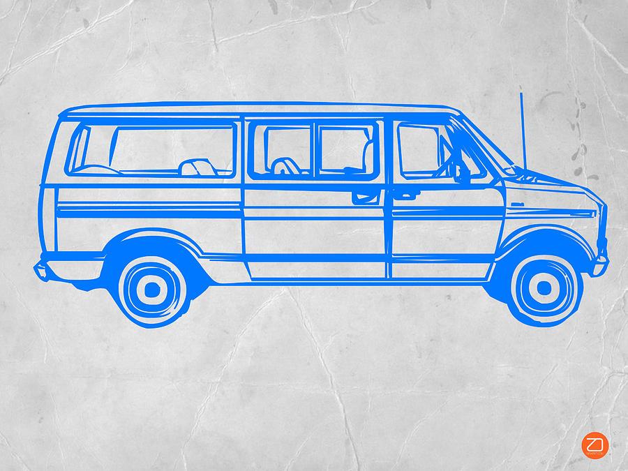 Van Drawing - Big Van by Naxart Studio