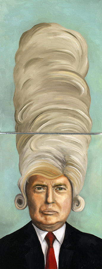 Donald Trump Painting - Big Wig by Leah Saulnier The Painting Maniac