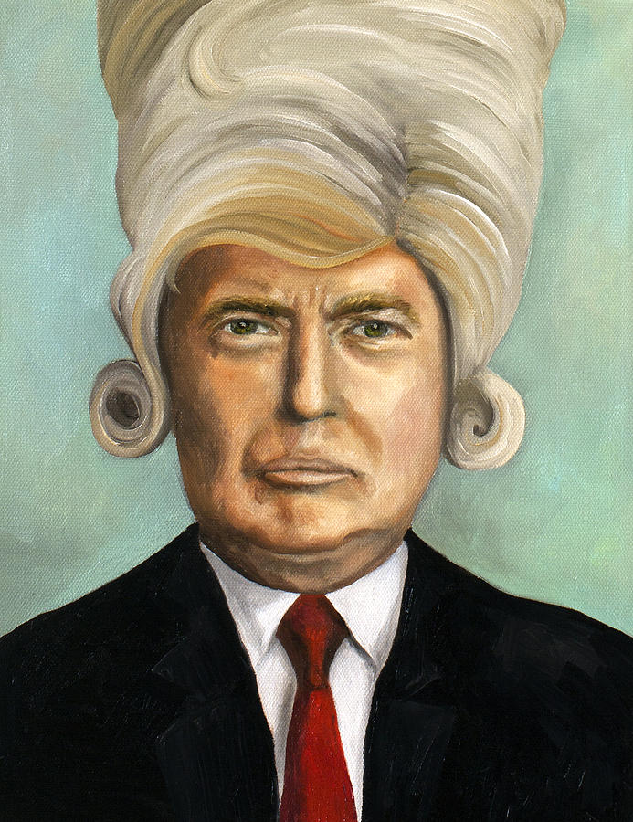 Donald Trump Painting - Big Wig Part 1 by Leah Saulnier The Painting Maniac