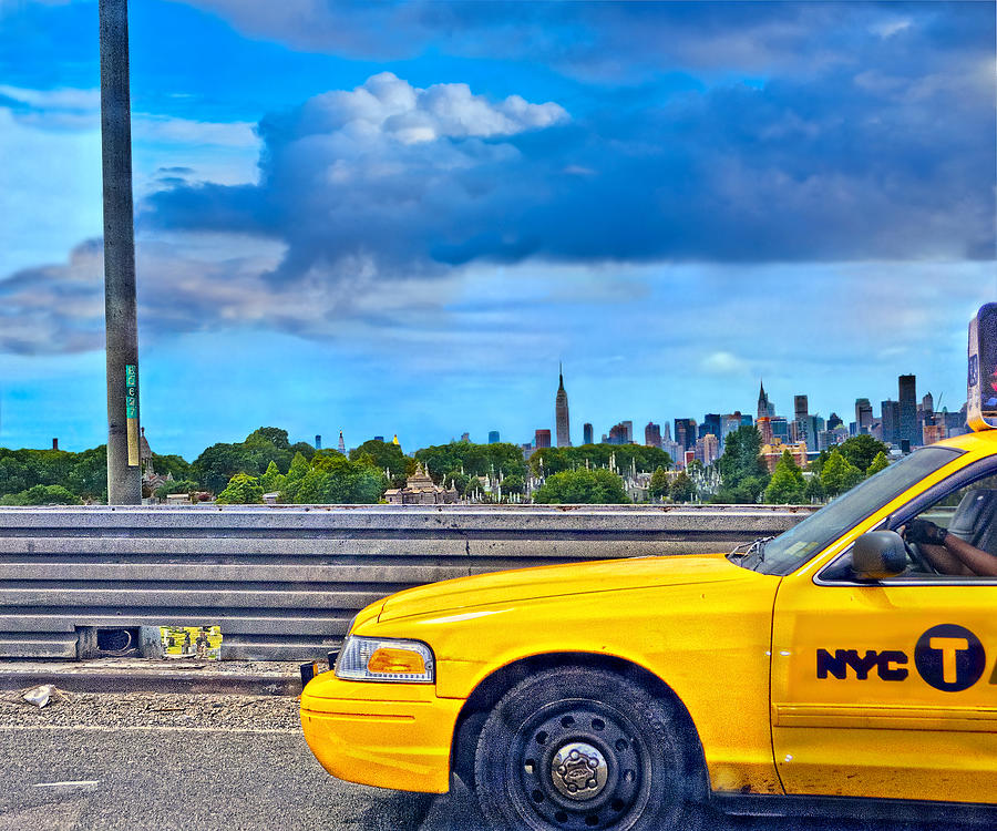 Taxi Photograph - Big Yellow Taxi by Marianne Campolongo