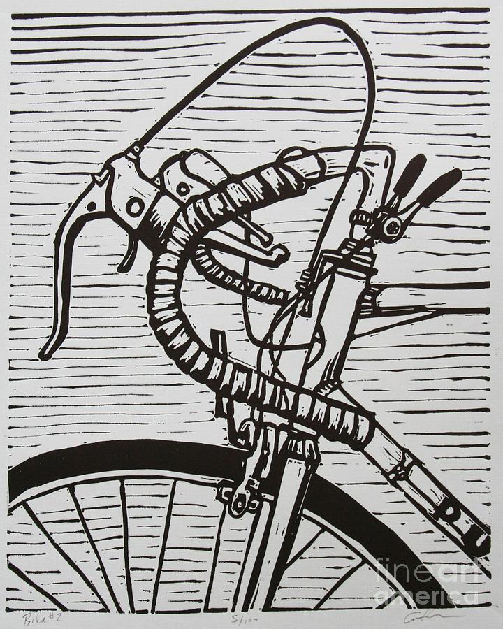 Bike Drawing - Bike 2 by William Cauthern
