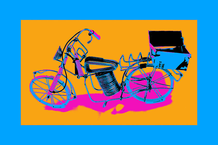 Art Pyrography - Bike-2c by Mauro Celotti