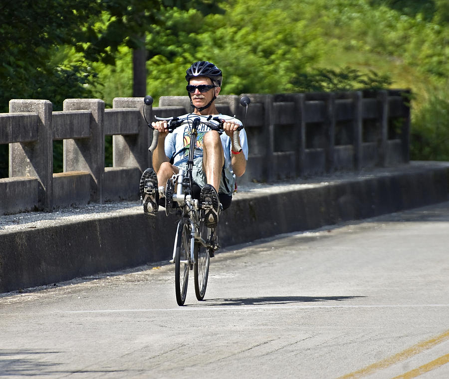 Man Photograph - Bike Ride Across Georgia by Susan Leggett
