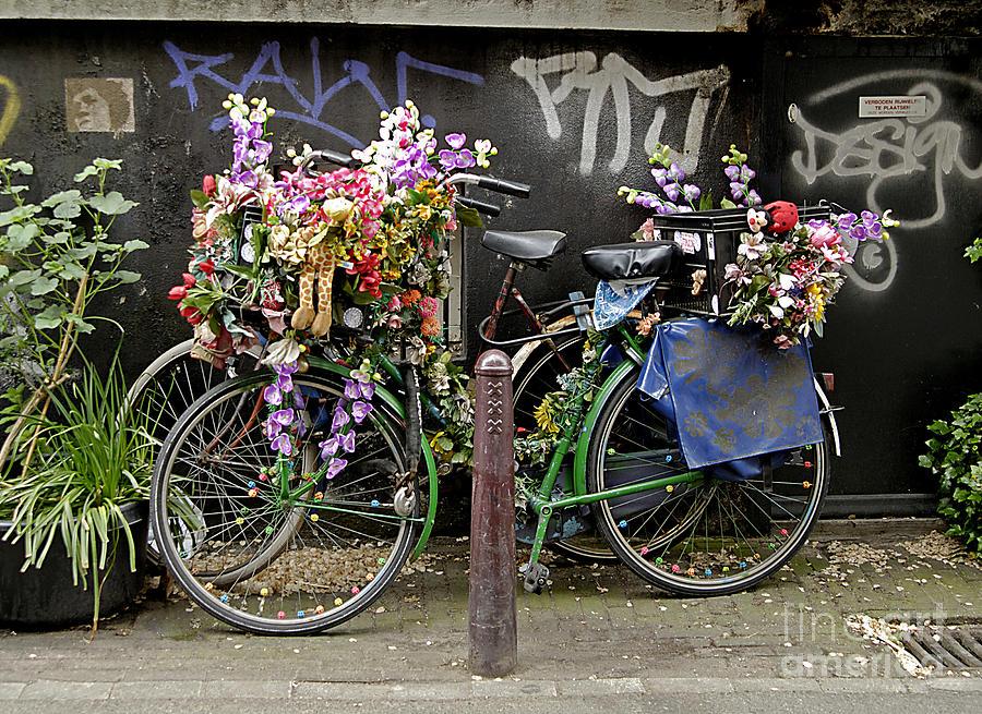 Street Art Photograph - Bikes As Art by Ed Rooney
