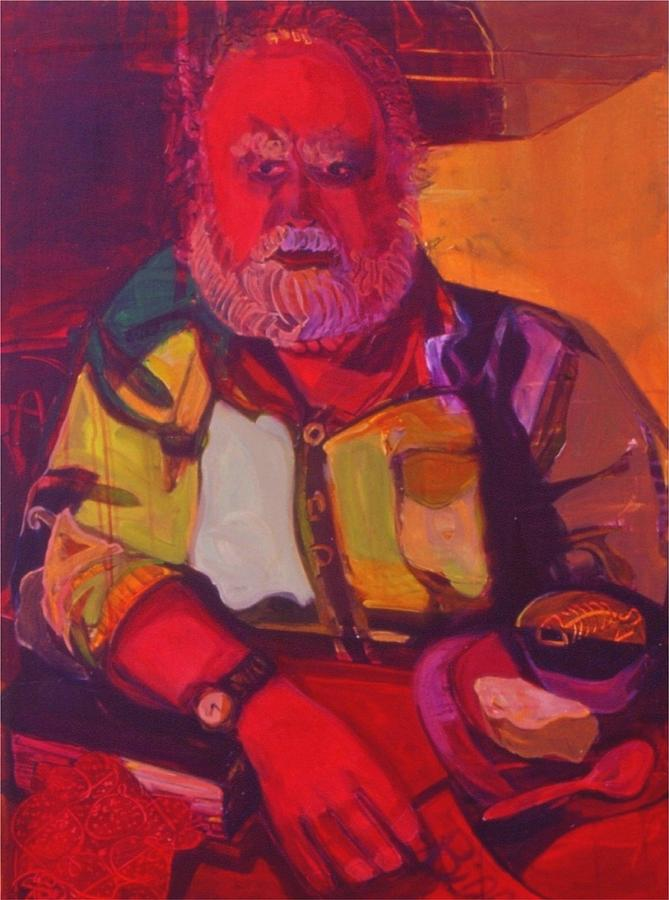 Red Painting - Bill No.1 - Big Red Bill by Erika Richert