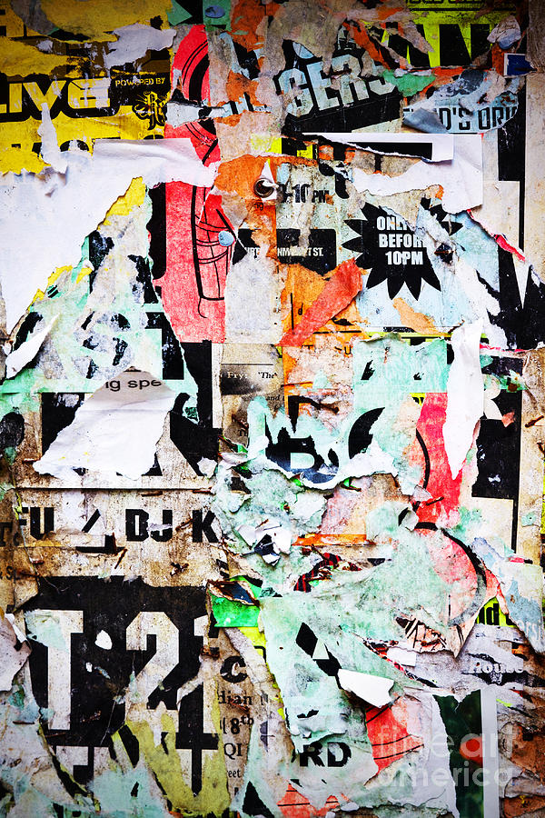Billboard Photograph - Billboard With Old Torn Posters by Richard Thomas