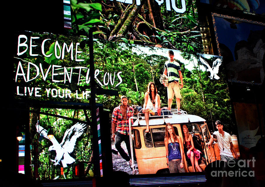 New York Photograph - Billboards In Times Square by Pravine Chester