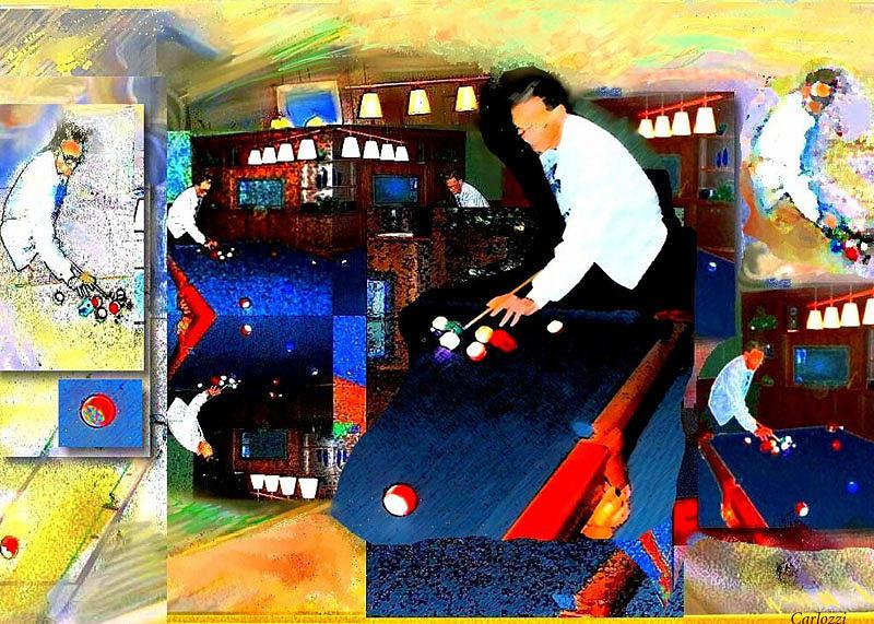 Pool Shark Digital Art - Billiards by Martha Carlozzi