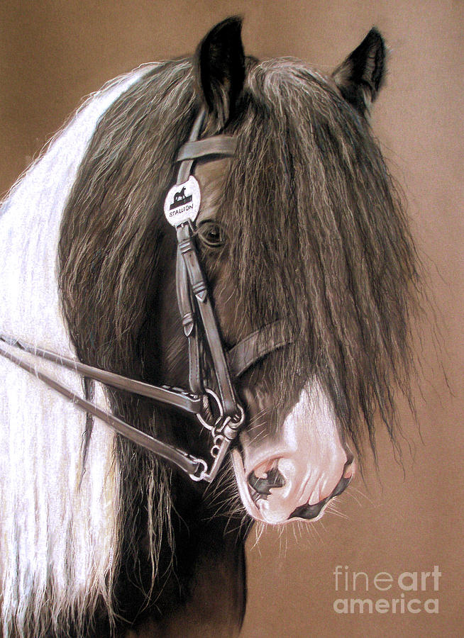 Stallion Painting - Billy The Kid by Caroline Collinson