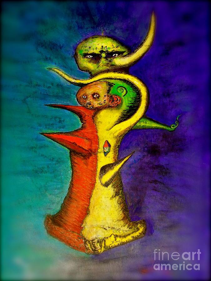 Voodoo Painting - Biohazard  Voodoo by Raul Morales