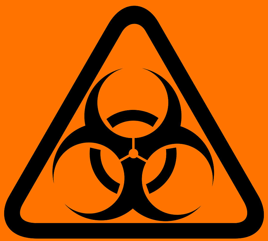 graphic about Biohazard Sign Printable called Biohazard Caution Indication