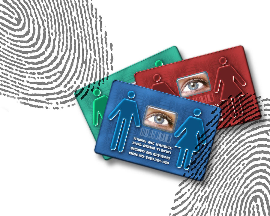 Technology Photograph - Biometric Id Cards by Victor Habbick Visions