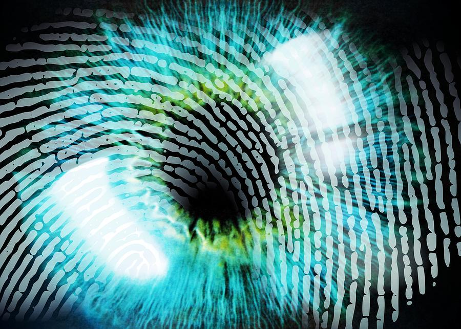 Eye Photograph - Biometric Identification by Pasieka