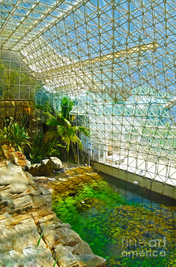 Biosphere2 Painting - Biosphere2 - Environment 2 by Gregory Dyer