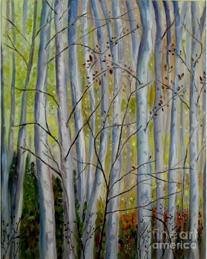 Birch Painting - Birch Forest by Julie Brugh Riffey
