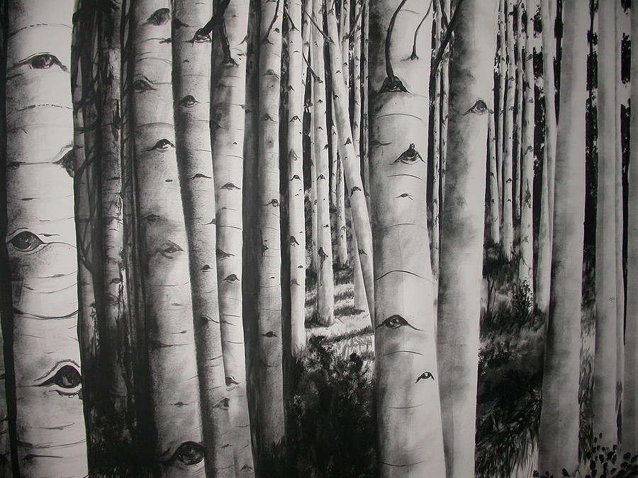 Trees Painting - Birch by Scott Robinson