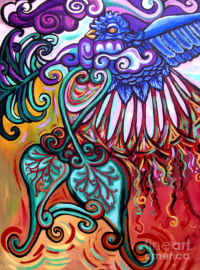 Bird Heart I Painting by Genevieve Esson