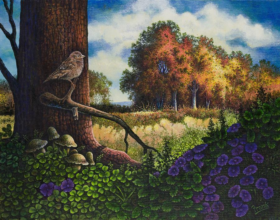 Landscape Painting - Bird In Paradise II by Michael Frank