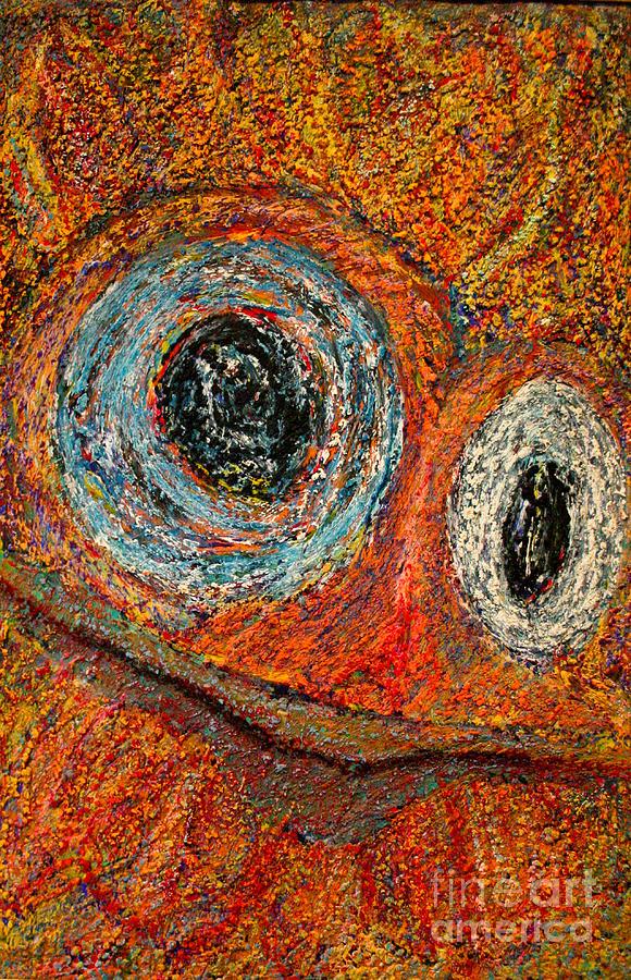 Outsider Artist Mixed Media - Birdman by Bill Davis