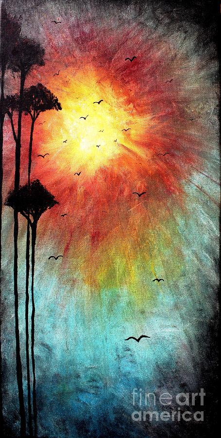 Sun Painting - Birds Of The Sun by Michael Grubb