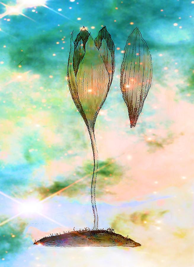Triffid Digital Art - Birth Of A Triffid by Sarah Vernon