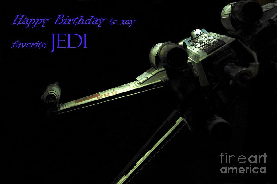 Star Wars Photograph - Birthday Card by Micah May