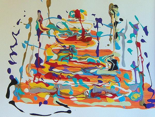Abstract Painting - Birthday by Helene Henderson