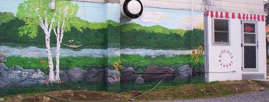 Adirondack Painting - Biscuits Bakery Mural by SHER Millis