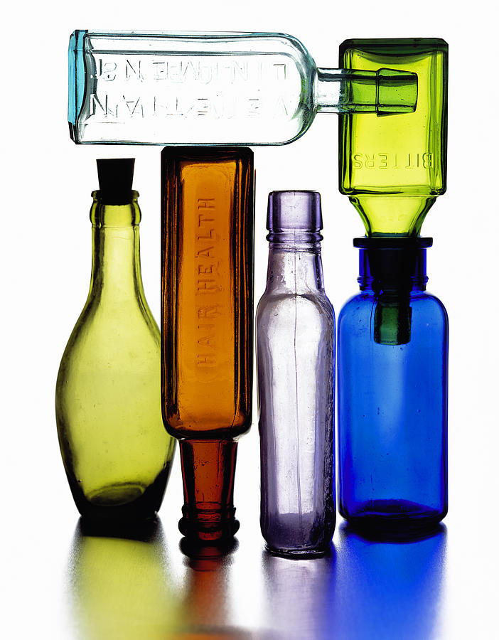Bitters Photograph - Bitters Bottles by Michael Kraus
