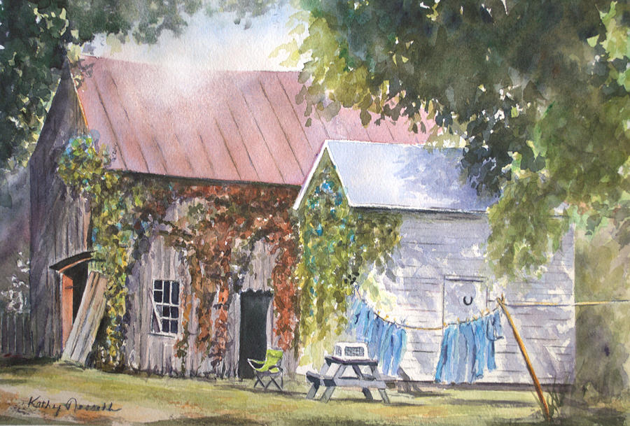 Barn Painting - Bittersweet by Kathy Nesseth