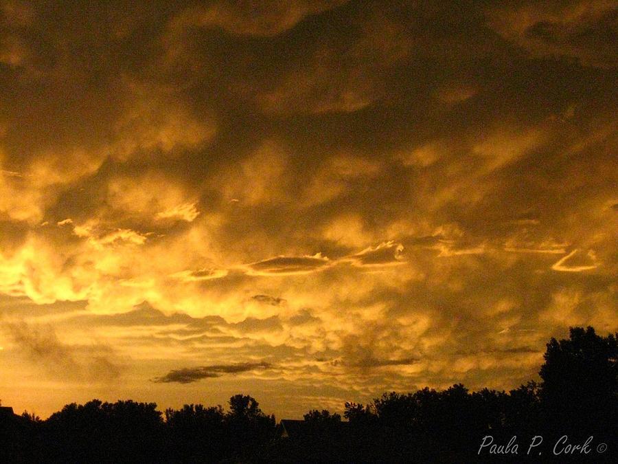 Orange Sky Photograph - Bittersweet Sky by Paula Cork