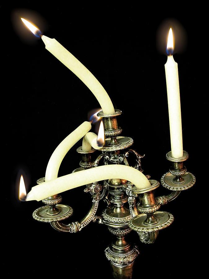 Candlesticks Photograph - Bizar Chandalier by Dan Gazit