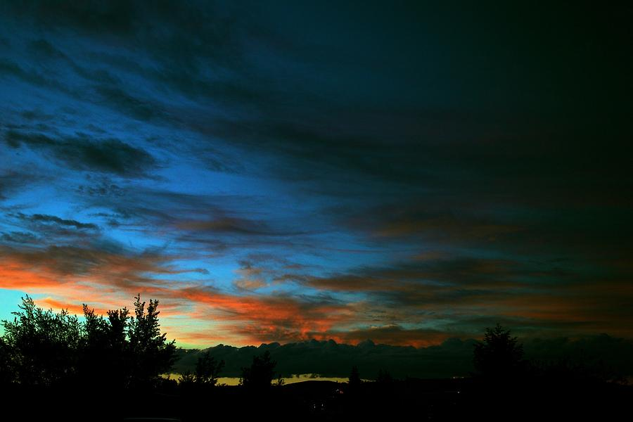 Sunset Photograph - Black And Blue by Kevin Bone