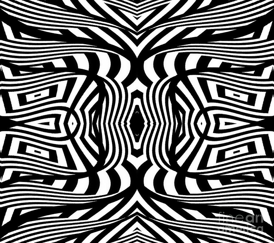Illustration digital art black and white abstract art no 322 by drinka mercep