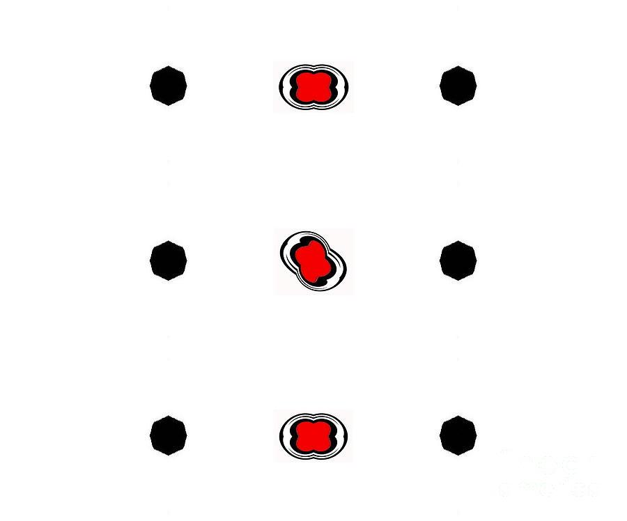 Minimalism Digital Art - Minimalism Black White Red Art No.91. by Drinka Mercep