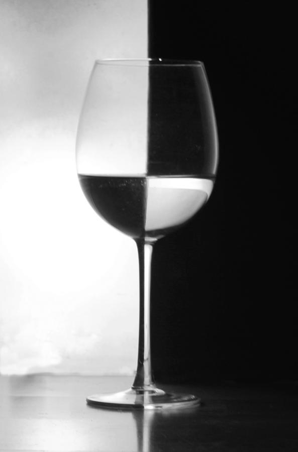 Wine Glass Photograph - Black And White by Ben Alcock