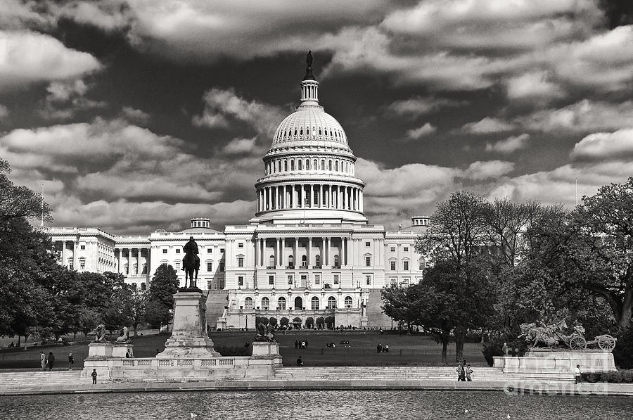 Black And White Capitol Photograph By Jim Moore