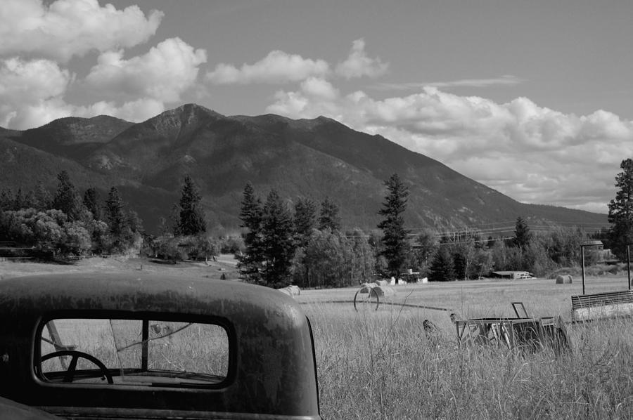 Black And White Farm Photograph by Jonathan Abrams