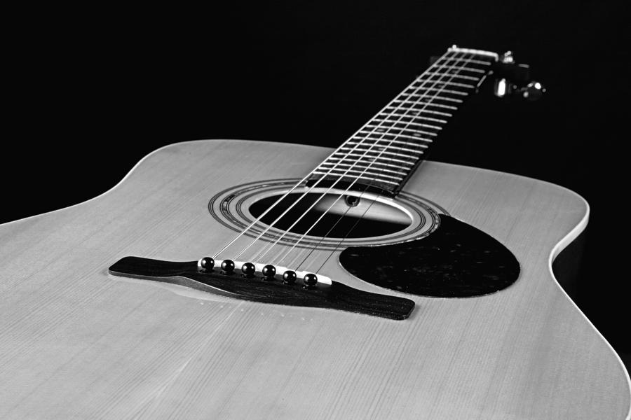 Guitar photograph black and white guitar by m k miller