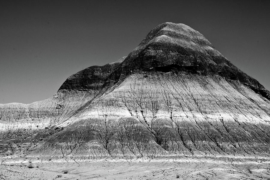 Painted Desert Photograph - Black And White Painted Desert by Bob and Nadine Johnston