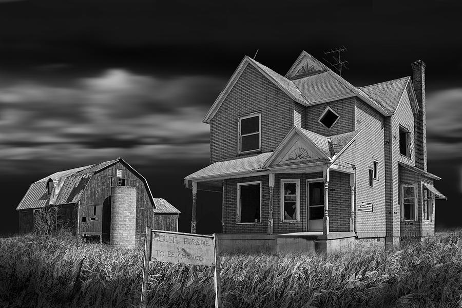 Black and White Photo of decline of the small farm number ...