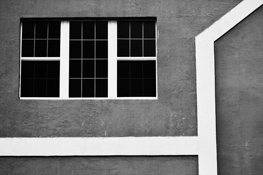 Black And White Photograph - Black And White Side Of Building  by Anya Brewley schultheiss