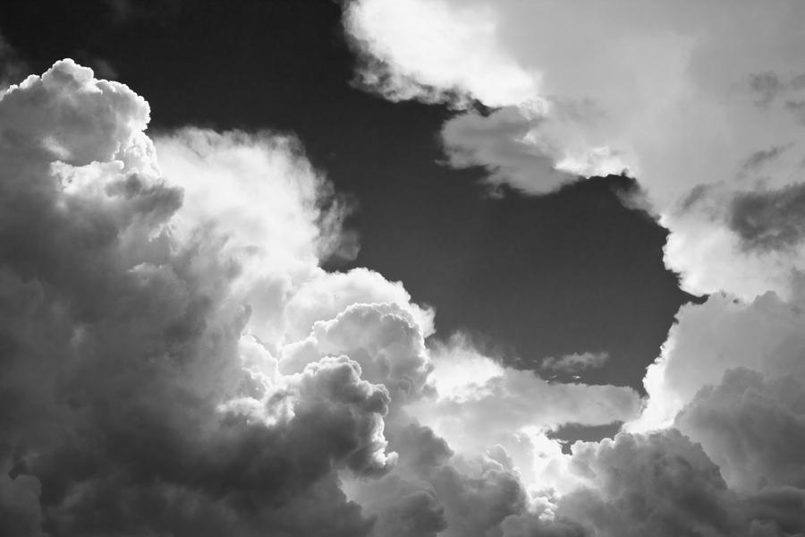 Black And White Sky With Building Storm Clouds Fine Art ...