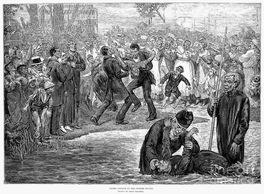 1887 Photograph - Black Baptism, 1887 by Granger