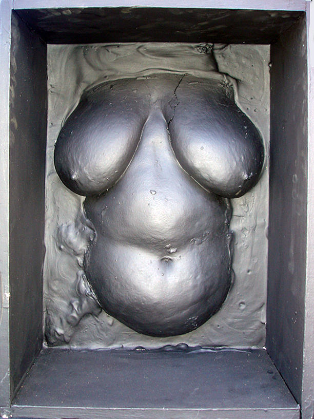 Life-casting Sculpture - Black Box Venus by Marc David Leviton