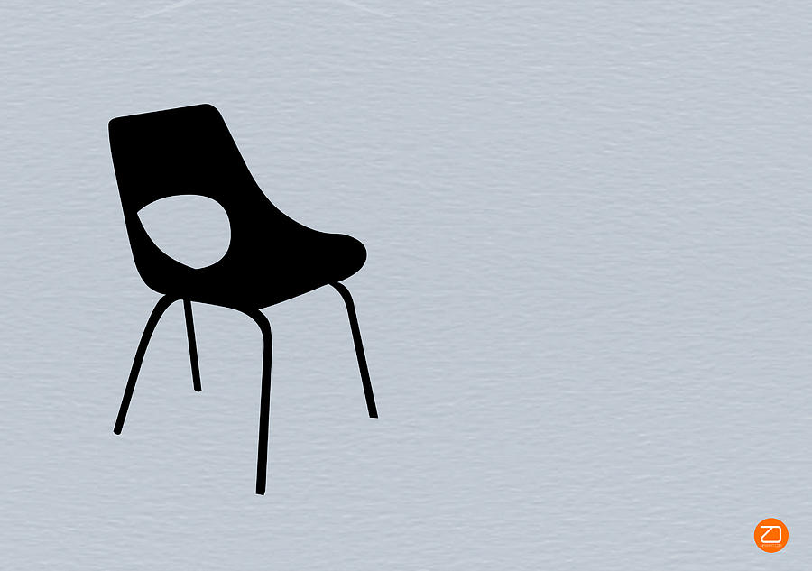Eames Chair Photograph - Black Chair by Naxart Studio