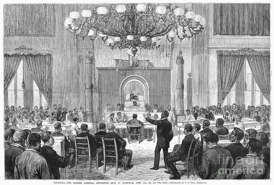 1876 Photograph - Black Convention, 1876 by Granger